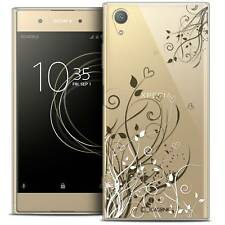 """Coque Crystal Gel Pour Sony Xperia XA1 PLUS (5.5"""") Souple Love Hearts Flowers"""