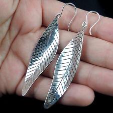 Long LEAF Design 925 STERLING SILVER EARRINGS Jewellery, QUALITY