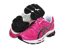 NIB ASICS Kids GEL-Nimbus 14 Youth Size 4.5 Neon Pink Black Running Shoes