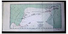 1937 Ellsworth - THE FIRST TRANS-ANTARCTIC FLIGHT - RARE COLOR MAP - 3