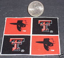 Dollhouse Miniature Creative Sports Fan Kit Texas Tech Red Raiders 1:12 Banners