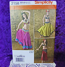 Simplicity 2158 3 Styles Belly Dancer Costume Sewing Pattern sz 6-12 New