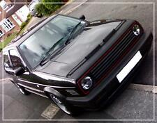 VW GOLF MK2 GTI 16V BLACK BONNET BRA