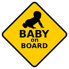 "Baby on board Car Sticker Decal Vinyl size 5"" X 5"""