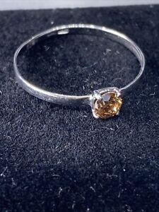 Golden 9K  Diamant Ring 0.20 Ct Lupenrein Orange  Farbe