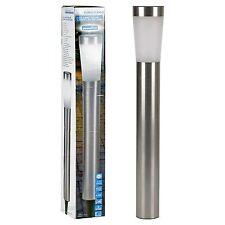Solar Powered Stainless Steel LED Light Lamp Garden Post Driveway NEW Lighting