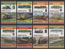 St. Lucia 1986 - Mi-Nr. 814-829 ** - MNH - Lokomotive / Locomotives