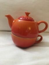 LE CREUSET FLAME TEA FOR ONE-10oz-NEW IN BOX