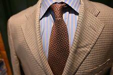 Polo Ralph Lauren Italy Light Brown Silk Houndstooth Sport Coat Size 40R