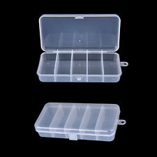 White Plastic Fishing Jig Box Insert Hook Storage Bait Lure 5 Compartments RU