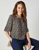 Crew Clothing Women's Fluted Sleeve Top Flower Bed Size 8, 10, 12, 14, 16, 18