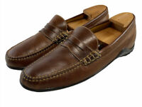 Martin Dingman Leather Vibram Penny driving loafers Brown leather Men's Size 11M