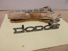 "Mopar NOS Radiator Grille Nameplate ""Dodge""  69 Dodge Polara"