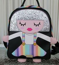 Luv Betsey Johnson Rainbow Backpack Small Glitter Girl LBMINDY NWT