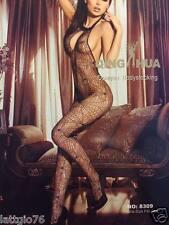 Catsuit a rete tuta intera bodystocking calza corpo intimo donna lingerie D79897