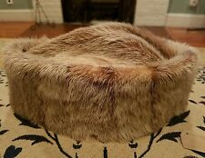 VINTAGE RIVER OTTER FUR HAT CAP NEW DELHI INDIA OUTERWEAR