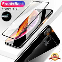 For iPhone XS MAX XR X 5D Curved Full & Rear Tempered Glass Screen Protector-SL
