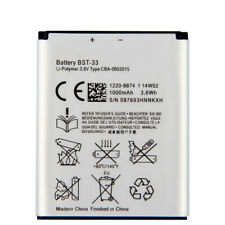 Replacement Battery BST-33 For SONY P1 G700 M600 Z530 W880 P990 w395c K550C