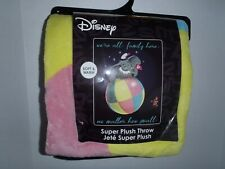 Disney Dumbo The Flying Elephant Plush Soft Fleece Blanket Throw Bedding 48X60