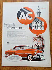 1951 AC Spark Plugs Ad   Chevrolet DeLuxe Coupe