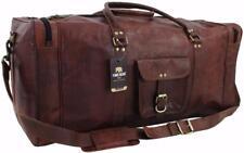 "Yuge Bear 28"" DS3 Vtg Genuine Leather Duffel Weekender XL Large Travel Gym Bag"