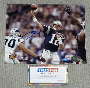 TOM BRADY Signed Patriots Super Bowl SB 38  8x10 Photo + TRISTAR COA 3000412