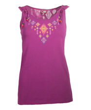Purple Vest Top Size 18 Sleeveless Geometric Top