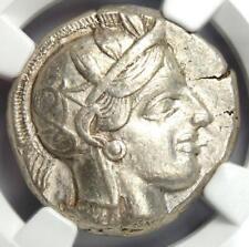 Ancient Athens Greece Athena Owl Tetradrachm Coin (440-404 BC) - NGC Choice VF!