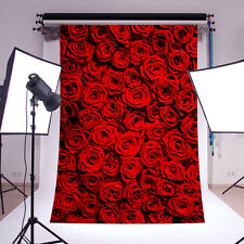 5x7FT Red Rose Backdrop Support Stand Photos Photography Studio Prop Background