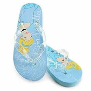 Girls Official Disney Cinderella Flip Flop UK Kid Size 11-12 & 13-1