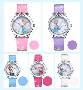 Spider man Frozen Disney Princess Super Heroes Girls Kids Children Gift Watches