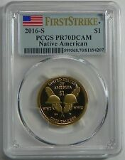 2016-S PROOF Sacagawea Native American Dollar Coin PCGS PR70DCAM FIRST STRIKE