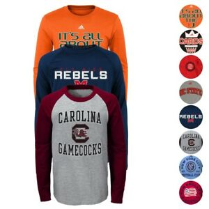 NCAA Outerstuff & Adidas Various Long Sleeve Team Graphic T-Shirt Youth (S-XL)