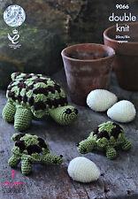 CROCHET PATTERN Toy Tortoise Family & Eggs Stuffed Toys PATTERN 9066