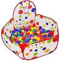 Kids Play Tent Ball Pit Pool Basketball Hoop Zippered Storage Bag 3.28ft 100cm