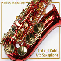 Red Alto Saxophone - New in Case - Masterpiece