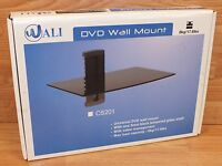 Wali (CS201) DVD Wall Mount Floating Shelf with Strengthened Tempered Glass READ