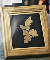 CROSS STITCH PATTERN Autumn Acorn and Leaves Picture Leaf Goldwork CHART ONLY