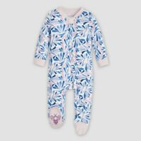 BURTS BEES BABY Girls 2PC DAISY FIELDS Floral Tunic /& BLUE Leggings 3-6 MONTHS
