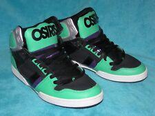 MINT Gems! OSIRIS Bronx NYC 83 High Tops Sneakers Skate Mens Size 13 Black/Green