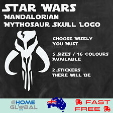 Star Wars Mandalorian Mythosaur Skull Logo Sticker Decal Car Wall Bike Helmet
