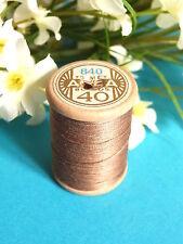 156B/ BELLE BOBINE DE FIL DMC COTON ALSA N° 40 MARRON CANELLE  N° 840