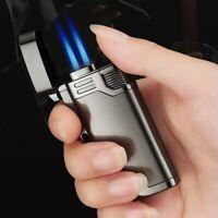 Jet Torch Cigar Lighter Key Chain Butane Blue Flame Windproof Cigarette Lighters