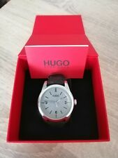 Hugo Boss Leather Strap Grey Dial Mens Watch HB. 343.1.14.3154