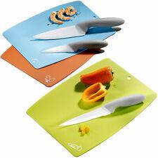 6 tlg Koch Küchen Keramik Messerset Schneidebretter Messer Allzweck Schälmesser