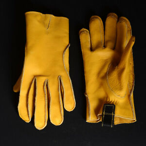 Men's Real Leather Cowhide Unlined Work Drive Farm Construction Short Gloves