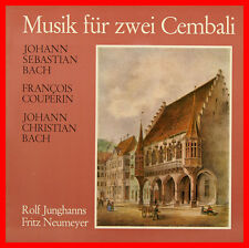 """MUSICA PER DUE CEMBALI BACH COUPERIN ROLF JUNGHANS FRITZ NEUMEYER 12"""" LP (B851)"""
