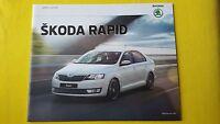 Skoda Rapid Saloon S SE Sport L car sales brochure catalogue November 2016 MINT