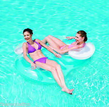 DOUBLE RING FLOAT TUBE 2 Person Fun Lazy River Inflatable Swim POOL Lounge 43009