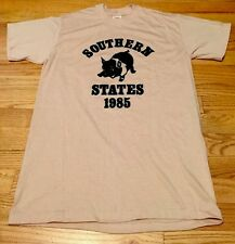 Vintage 1985's SOUTHERN STATES SPORT-T 50/50% Cotton/ Poly Thin T Shirt. Size L